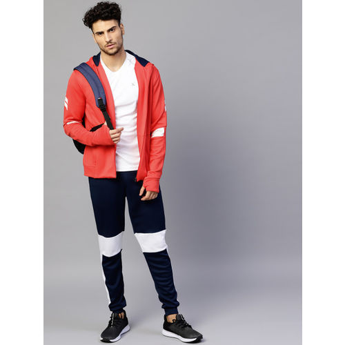 HRX by Hrithik Roshan Men Red Solid Hooded Sweatshirt