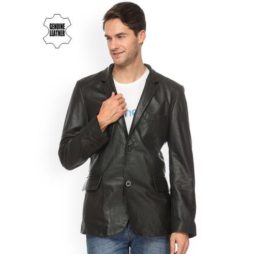 Teakwood Leathers Black Leather Jacket