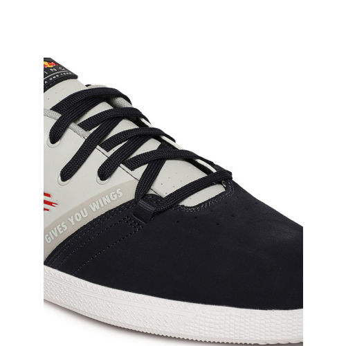 Puma Men Navy Blue & Grey RBR Cups Lo Suede Sneakers