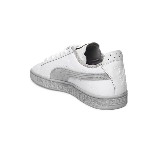 Puma Unisex White Solid SF Basket LS Sneakers