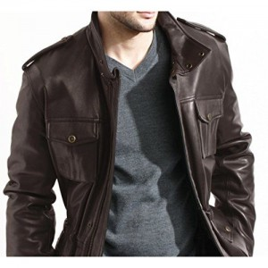 Noora NOORA Men's Pure Leather Jacket Slim Fit (NI112a_M_Black_X-Small)