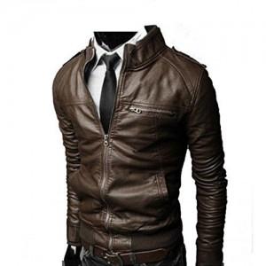 Noora NOORA Men's Pure Leather Jacket Slim Fit