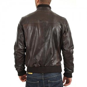 Noora NOORA Men's Pure Leather Jacket Slim Fit