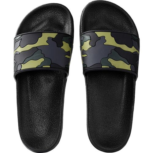 Zappy Men Black Green Slippers