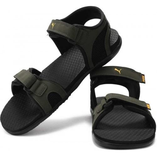 Buy Puma Men Forest Night- Black-Sunflower Sports Sandals online ... 9bb681e744be