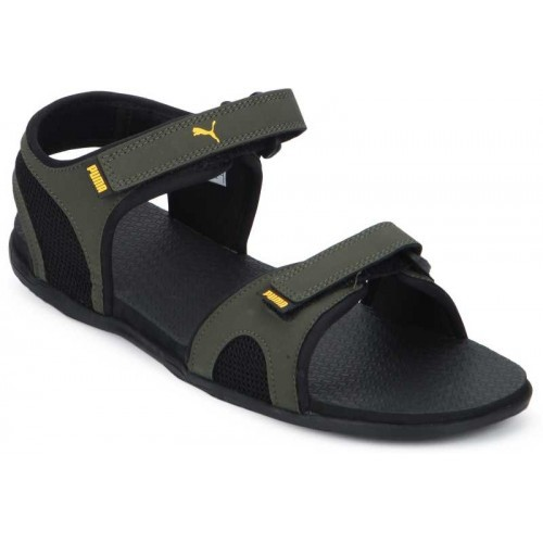8bd486d90324 Buy Puma Men Forest Night-Black-Sunflower Sports Sandals online ...
