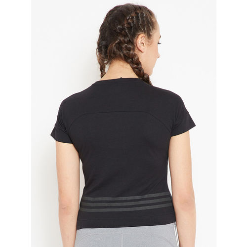 Adidas Women Black ID Baseline T-shirt