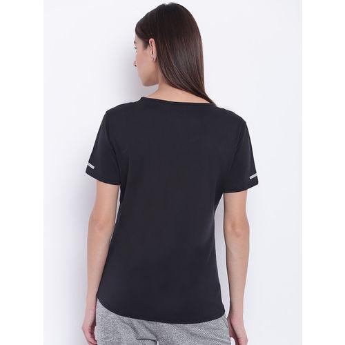 Adidas Women Black Solid Climalite Running T-shirt
