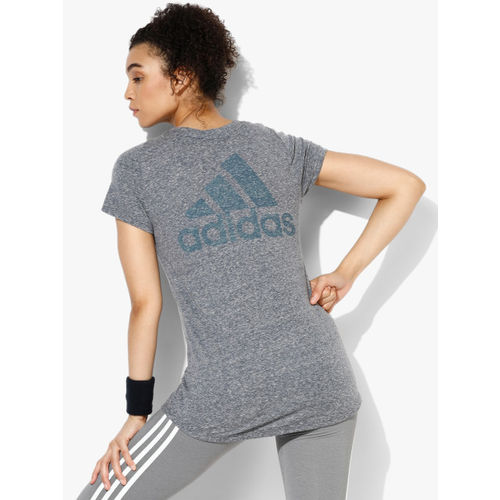 Adidas Winners Blue Round Neck T-Shirt