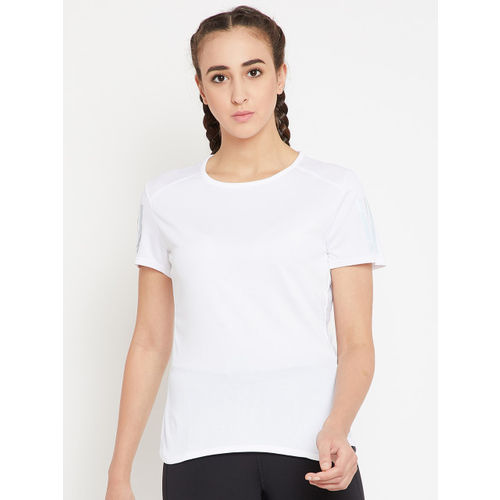 61c6d0f3ce8 Buy Adidas Women White Solid RS SS Running T-shirt online | Looksgud.in