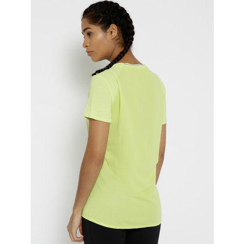 f352c1a3 ... Adidas Women Fluorescent Green FR Supernova 37C SS Solid Running T-shirt  ...