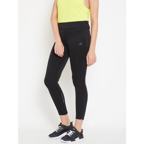 Adidas Women Black Response Cropped Running Tights