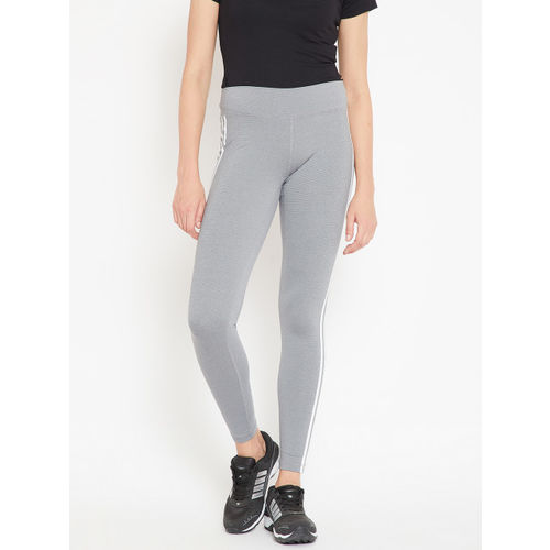 Adidas Women Grey Believe This RR HTR 3 Stripes Training Tights