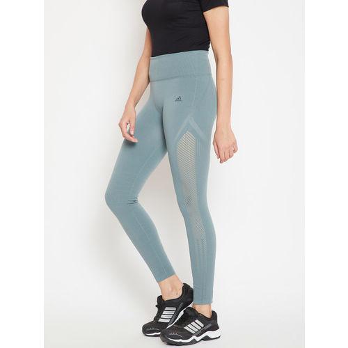 Adidas Women Grey Warpknit High-Rise 7/8th Training Tights