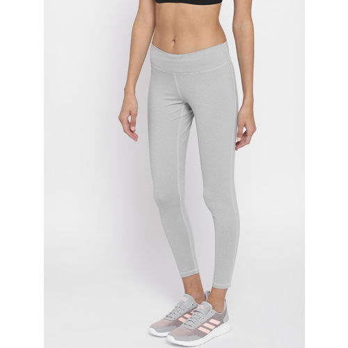 Adidas Women Grey BT RR 7/8 HTH Pinstriped Training Tights