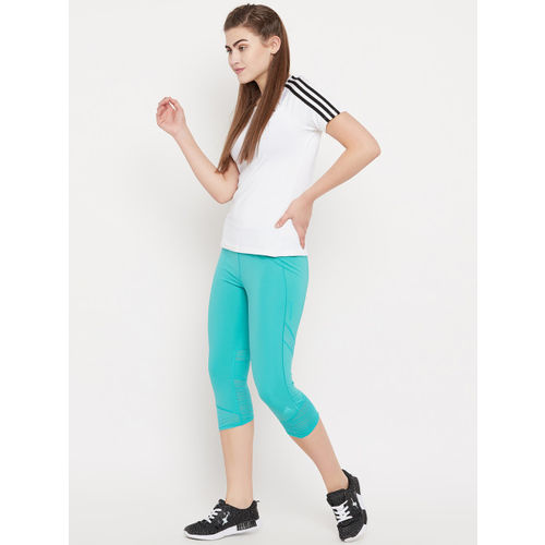 Adidas Women Sea Green How We Do 3/4th Running Tights