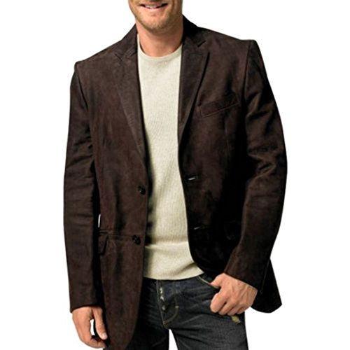 NOORA Men's Pure Leather Jacket Slim Fit