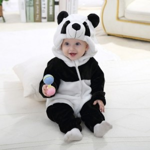 Oksale Baby Boy's Newborn Lovely Winter Panda Cartoon Hooded Rompers Outfits Clothes