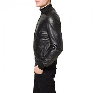 NOORA Men's Pure Leather Jacket Slim Fit
