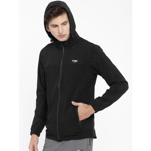 U.S. Polo Assn. Men Active Black Solid Sporty Jacket