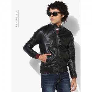 U.S. Polo Assn. Black Solid Casual Jacket (Reversible)