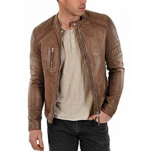 MOZRI Brown Pure Genuine Leather Jacket