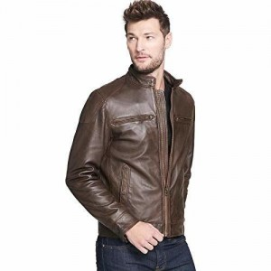 MOZRI Brown Pure Genuine Leather Jacket