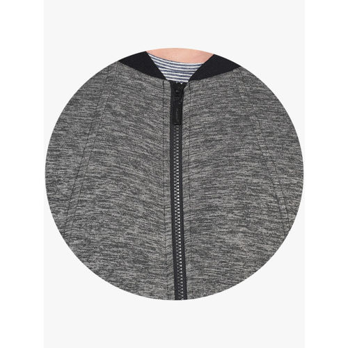 United Colors of Benetton Grey Solid Sweat Jacket