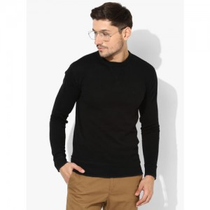 United Colors of Benetton Black Solid Sweatshirt