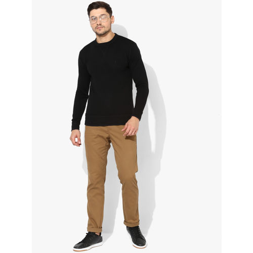 United Colors of Benetton Black Solid Sweatshirt