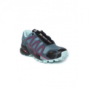 Salomon Blue Synthetic Speedcross 4 Running Shoes