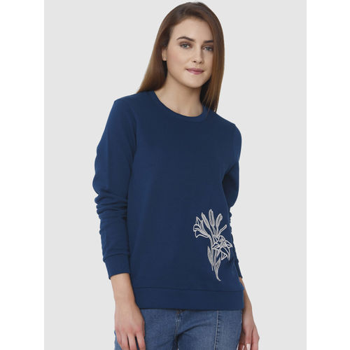 competitive price 104a6 1eaf3 Buy Vero Moda Women Teal Blue Solid Pullover online ...
