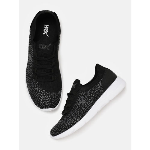 HRX by Hrithik Roshan Women Black Printed Running Shoes