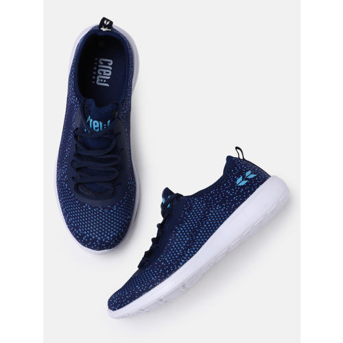 Crew STREET Navy Blue Synthetic Running Shoes