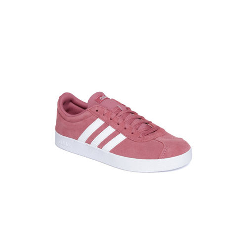 Legítimo ira Dime  Buy Adidas Women Dusty Pink VL Court 2.0 Leather Skateboarding Shoes online  | Looksgud.in
