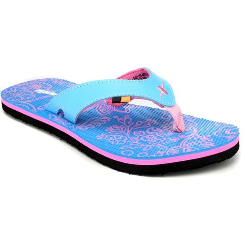 Sparx Women SFL-503 Blue Pink Flip Flops
