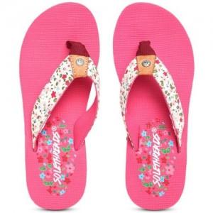 Sole Threads Pink Slip On Flip Flops