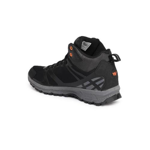 Wildcraft Men Black Solid Mid-Top Sneakers