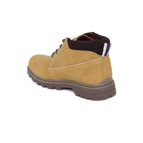 Carrera Men Camel Brown Flat Boots