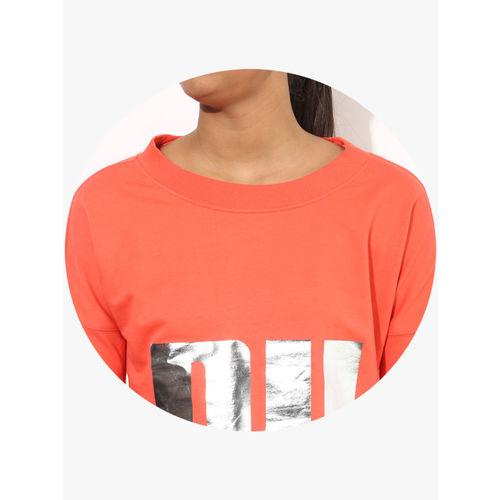 Puma Cropped Peach Sweatshirt