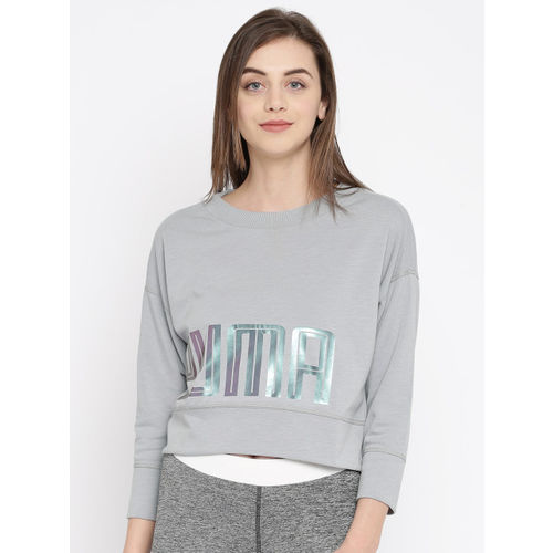 Puma Women Grey Printed Yogini Sweatshirt
