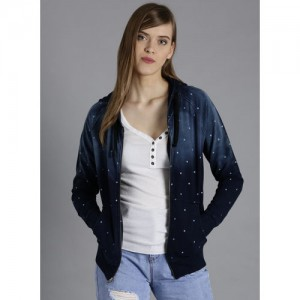Kook N Keech Blue Dot Print Hooded Sweatshirt