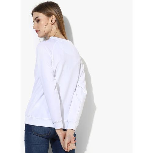 Kook N Keech White Printed Sweatshirt