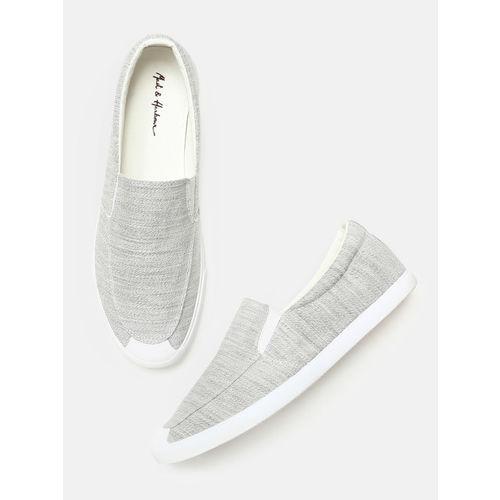 Mast & Harbour Men Grey Slip-On Sneakers