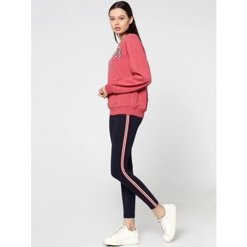 ONLY Women Pink Embellished Sweatshirt