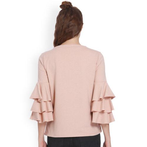 ONLY Women Pink Solid Sweatshirt