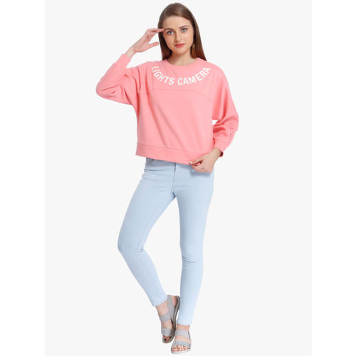 ONLY Pink Printed Sweatshirt