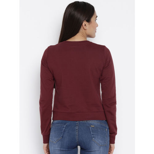 ONLY Plum-Coloured Printed Sweatshirt