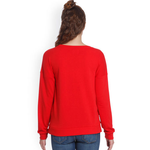 ONLY Women Red Printed Sweatshirt
