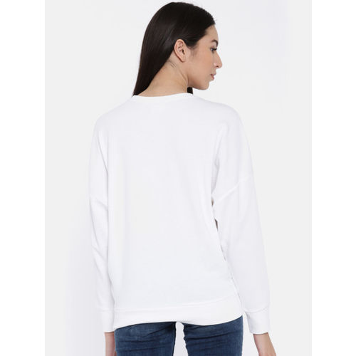ONLY Women White Printed Sweatshirt